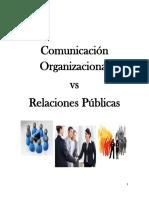 Comunicacion Organizacional Versus Relaciones Publicas