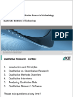Introduction Into Qualitative Research