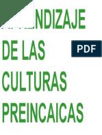 Aprendizaje de Las Culturas Preincaicas