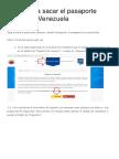Pasos Para Sacar El Pasaporte Exprés en Venezuela