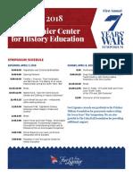 Seven Years War Symposium Schedule 2018