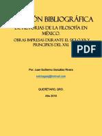 Bibliografías Historia de La Filosofía en México