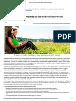 ¿Cuál es el impacto ambiental de los medios electrónicos_