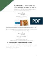 Demostración de La Ecuación de La Aceleración Relativista para Th. Relatividad Especial