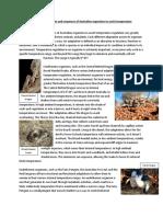 Australian Organisms Thermoregulation