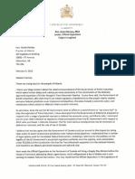 Jason Kenney's letter to Premier Rachel Notley, Feb. 9 2018