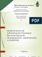 Medicamentos de Administración Parenteral 1