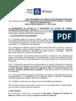 Secitec - Edital Concurso Público - Versão Final Retificadora Para Publicação Em d.o. (1)