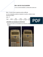 Uso de Calculadora