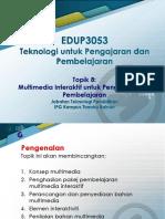 Topik 8_ Multimedia Interaktif untuk Pengajaran dan Pembelajaran.pptx