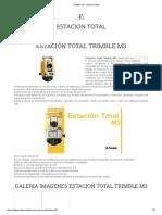 Trimble m3 - Estacion Total