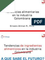 Tendencias Alimentarias en La Industria Colombiana