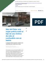 Mar Del Plata_ Una Mujer Policía Mató Al Hijo de Una Víctima de Robo Al Confundirlo Con Un Ladrón - TN.com