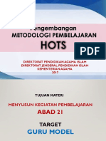 Desain Pembelajaran Hots