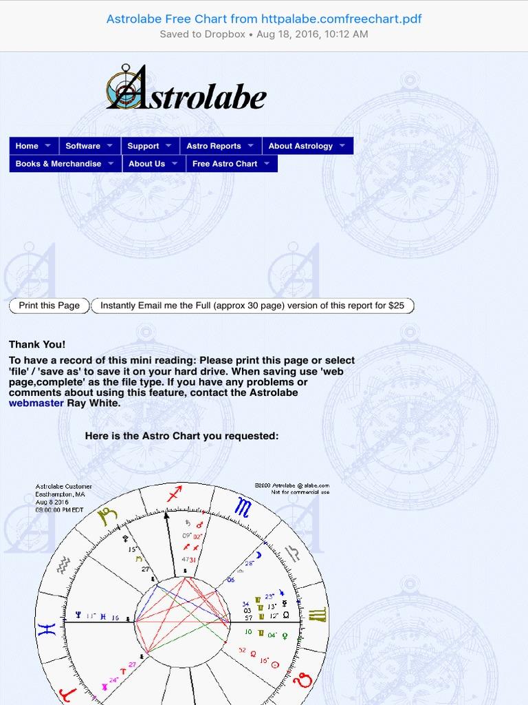 Free Astrology Charts Astrolabe - Astrolabe solar fire v9