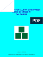 Regulatory Portal For Enterprises Doing Business In California