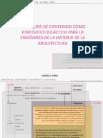 Análisis de contenido para el estudio bibliográfico en el taller de Historia de la Arquitectura, Gabriela Sorda,