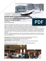 Report Nordic WFD Conference 2014