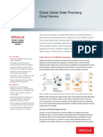 Oracle Global Order Promising Cloud Datasheet
