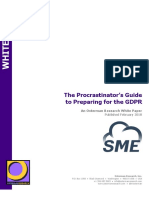 The Procrastinator's Guide to Preparing for the GDPR - SME