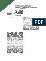 Kidapawan Complaint Affidavit