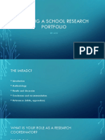 Building a School Research Portfolio