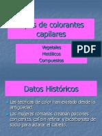 Tipos de Colorantes capilares.