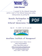 Invitation to the Isoc Chennai IGF Remote Participation Hub