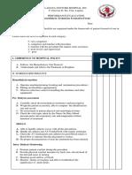 Dialysis Technician Evaluation Form