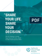 """SHARE YOUR LIFE. SHARE YOUR DECISION."" How the Campaign to Increase Organ Donations Provides a Model for Public Health Awareness Efforts"