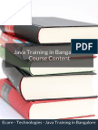 Java Training Course Content in Bangalore
