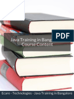 Java Training Course Content in Bangalore