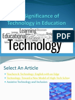 The Significance of Technology in Education