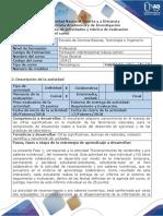 Guía de Actividades y Rúbrica de Evaluación - Fase 1 - Reconocimiento de Contenidos y Pre Saberes Del Curso