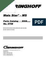 Mais Star MS 08 (Parts Catalog)