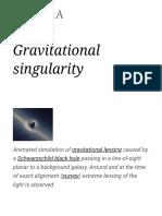 Gravitational Singularity