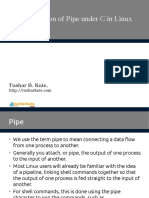 01 Implementation of Pipe in Linux