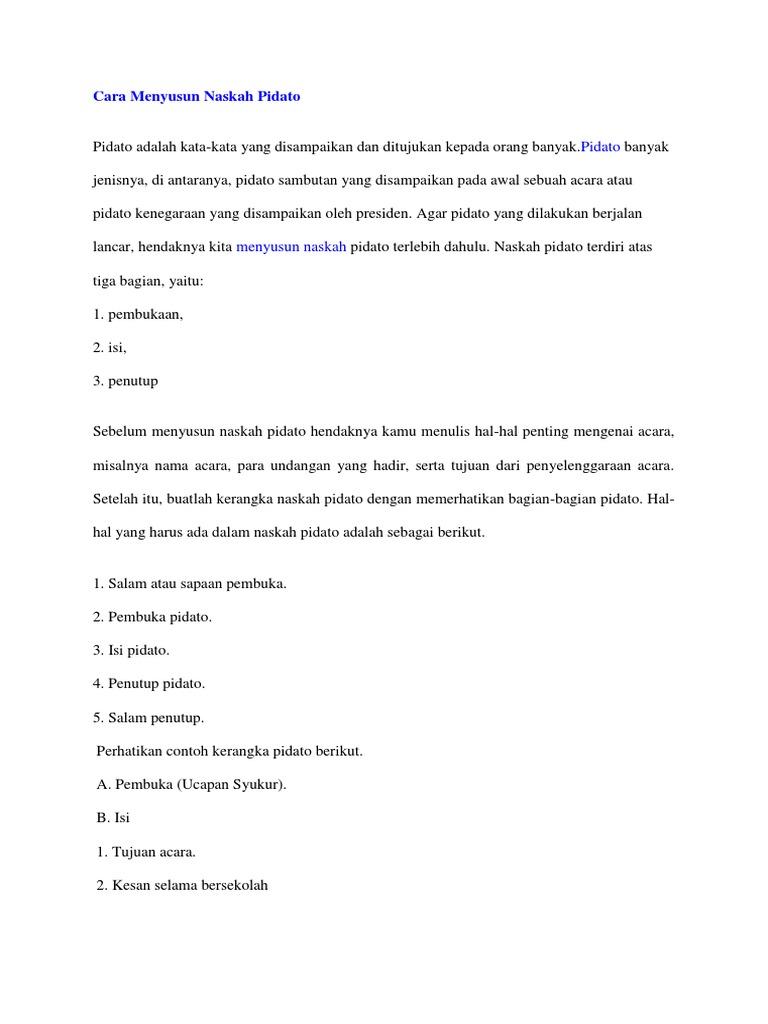 Langkah Langkah Menyusun Teks Pidato Persuasif - Berbagi ...