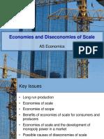 Economies and Dis Economies of Scale