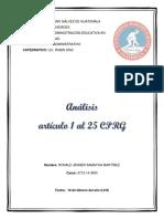 Análisis Del Artículo Del 1 Al 25 de La Constitución Política de La República de Guatemala