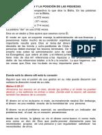 El Origen y La Posición de Las Riquezas.