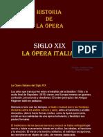 La opera italiana Siglo xix