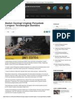 Badan Geologi Ungkap Penyebab Longsor Terowongan Bandara