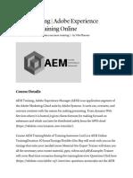 AEM Training _ Adobe Experience Manager Training Online
