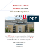 York University Canada IELTS Fraud