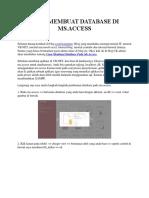 Cara Membuat Database Di Ms Access