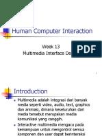 Multimedia Interface Design
