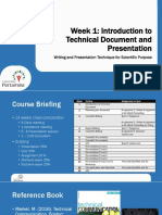 Week 1 - Introduction Technical Document