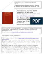 The Eclectic (OLI) Paradigm of International Production - Past, Present and Future