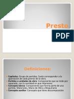 Manual básico de Presto 8.8